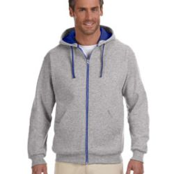Adult 8 oz. NuBlend® Contrast Full-Zip Hood Thumbnail