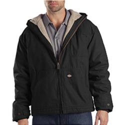 Men's 8.5 oz. Sanded Duck Sherpa-Lined Hooded Jacket Thumbnail
