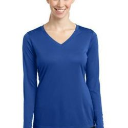 Ladies Long Sleeve PosiCharge ® Competitor™ V Neck Tee Thumbnail