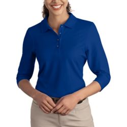 Ladies Silk Touch™ 3/4 Sleeve Polo Thumbnail