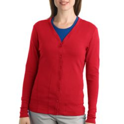 Ladies Modern Stretch Cotton Cardigan Thumbnail