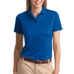 Ladies Poly Charcoal Blend Pique Polo Thumbnail