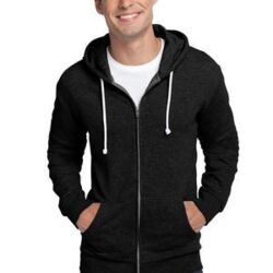 Young Mens Core Fleece Full Zip Hoodie Thumbnail