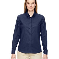 Ladies' Paramount Wrinkle-Resistant Cotton Blend Twill Checkered Shirt Thumbnail
