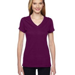 Ladies' 4.7 oz. Sofspun® Jersey Junior V-Neck T-Shirt Thumbnail