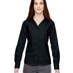 Ladies' Precise Wrinkle-Free Two-Ply 80's Cotton Dobby Taped Shirt Thumbnail