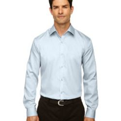 Men's Boulevard Wrinkle-Free Two-Ply 80's Cotton Dobby Taped Shirt with Oxford Twill Thumbnail