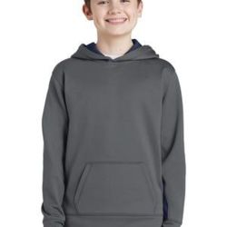 Youth Sport Wick ® Fleece Colorblock Hooded Pullover Thumbnail