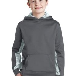 Youth Sport Wick ® CamoHex Fleece Colorblock Hooded Pullover Thumbnail