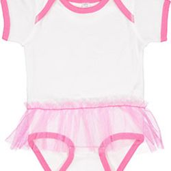 Infant Baby Rib Lap Shoulder Tutu Creeper Thumbnail