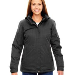 Ladies' Rivet Textured Twill Insulated Jacket Thumbnail