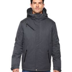Men's Rivet Textured Twill Insulated Jacket Thumbnail
