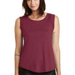 Alternative Women's Cap Sleeve Satin Jersey Crew T Shirt Thumbnail