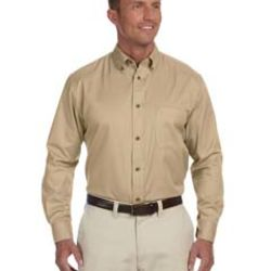 Men's Tall Easy Blend™ Long-Sleeve Twill Shirt with Stain-Release Thumbnail
