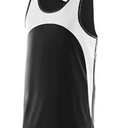 Youth Wicking Polyester Sleeveless Jersey with Contrast Inserts Thumbnail