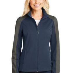Ladies Active Colorblock Soft Shell Jacket Thumbnail