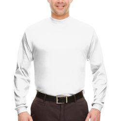 Adult Egyptian Interlock Long-Sleeve Mock Turtleneck Thumbnail