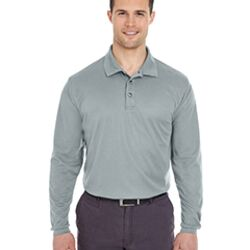 Adult Cool & Dry Long-Sleeve Mesh Piqué Polo Thumbnail