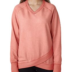 Ladies' Oasis Wash Criss-Cross V-Neck Thumbnail