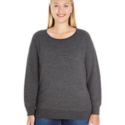 Ladies' Curvy Slouchy French Terry Pullover Thumbnail