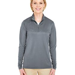 Ladies' Cool & Dry Sport Performance Interlock Quarter-Zip Pullover Thumbnail