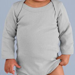Infant Baby Rib Lap Shoulder Long Sleeve Creeper Thumbnail