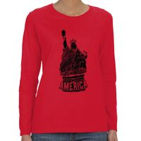 Heavy Cotton™ Ladies' 5.3 oz. Missy Fit Long-Sleeve T-Shirt Thumbnail