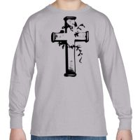 Heavy Cotton™ Youth 5.3 oz. Long-Sleeve T-Shirt Thumbnail